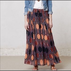 Anthropologie Maeve Boho Hexi Maxi Skirt